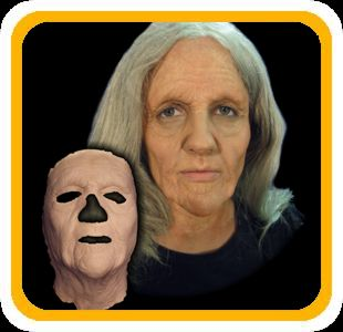 Old lady prosthetic mask